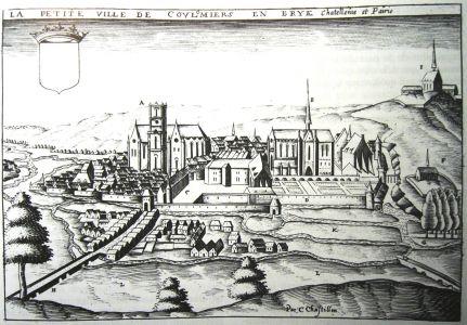 La Ville De Coulommiers Gravure De Chastillon De 1600